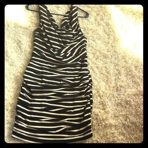 Expressed ruched mini dress